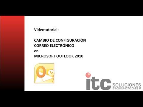 ITC - Video Tutorial configuración de e-mail en Microsoft Outlook 2010