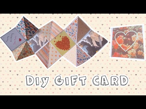DIY Gift Card - Birthday Gift Idea -Best Squash Card- Handmade zig zag mini photo album