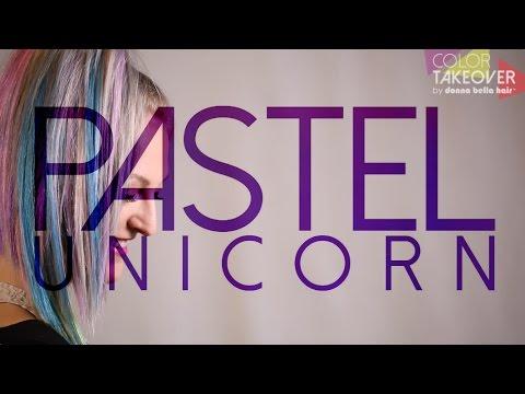 Pastel Unicorn Hair Tutorial Using Hair Extensions