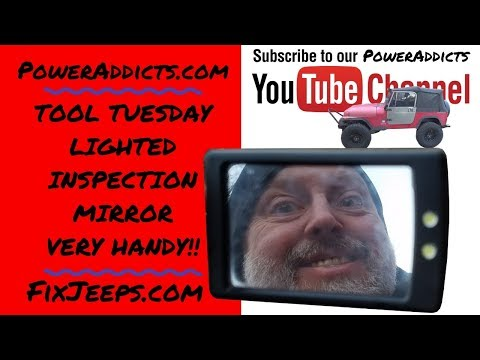 Lighted Inspection Mirror on Tool Tuesday
