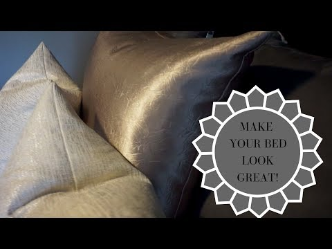 HOW TO MAKE YOUR BED LOOK GREAT WITH CHEAP BEDDING!!