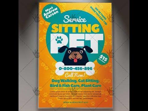 Pet Sitting Flyer - Business PSD Template