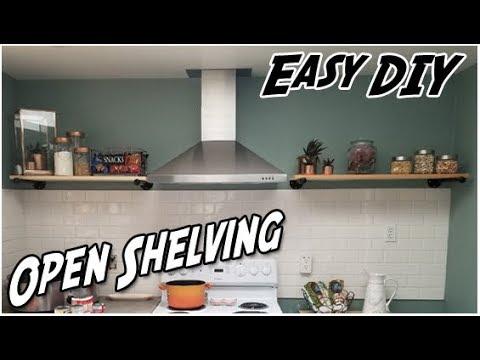 Kitchen Open Shelving   Easy DIY Project   Open Kitchen Shelves