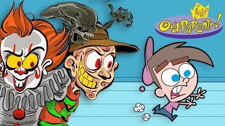 Horror Characters in the Fairly OddParents Style