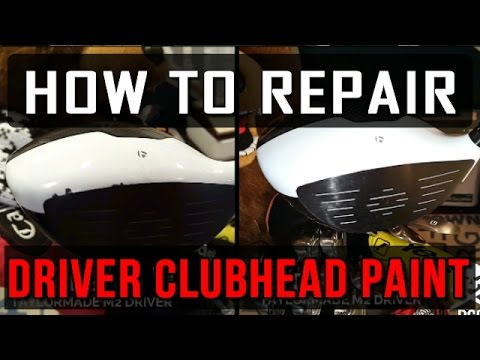 DIY - How To Repair Golf Driver Club Head Paint!