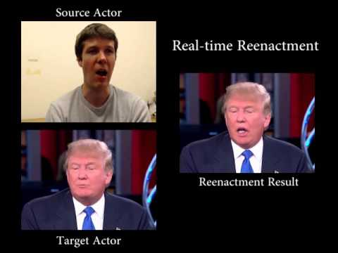 Face2Face: Real-time Face Capture and Reenactment of RGB Videos (CVPR 2016 Oral)