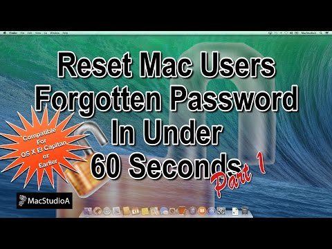 How To Reset Mac OS X Forgotten Password