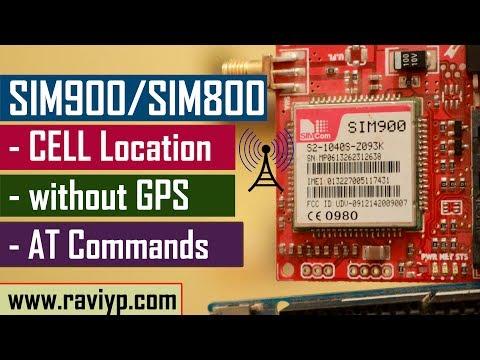 Getting Network Location using SIM900/SIM800 GSM modules