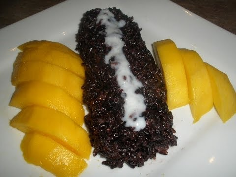 How to make Mango with Black Sticky Rice Dessert