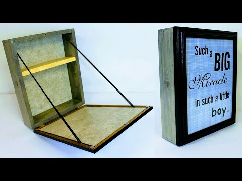 DIY Wall Folding Table Storage Box Picture Frame