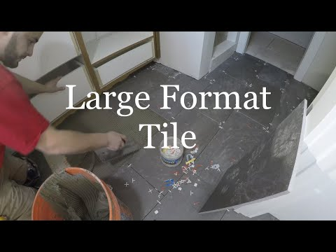 FLOOR TILE INSTALL 12x24 LARGE FORMAT TILE