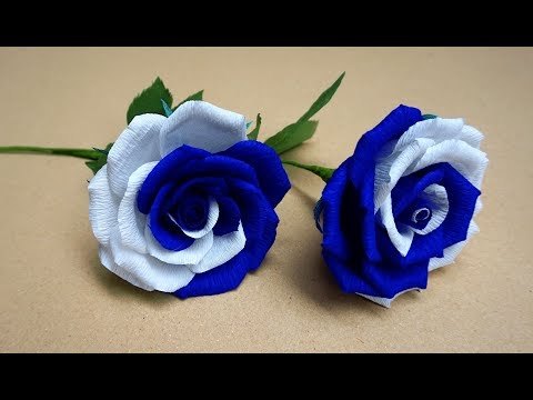 How to make realistic and easy paper roses - Very Easy and Simple to make Paper Rose