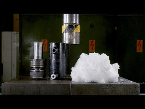 Can you Press Snow into Ice with Hydraulic Press