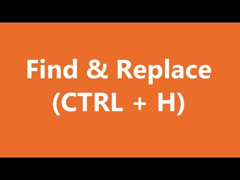 Excel Shortcuts - Find And Replace