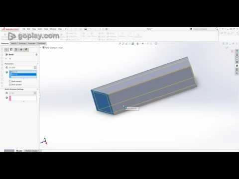 Solidworks: Making 45 degree cut on aluminum extrusion for frames