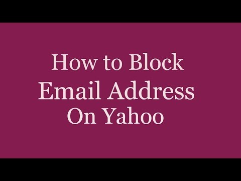How to Block Email Address on Yahoo Mail | How to Block Someone on Yahoo Mail