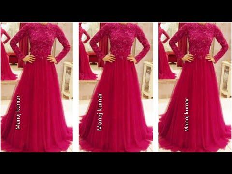 पुरानी साडी मे से कैसे बनाये लोंग गाउन ड्रेस / how to make long gown dress cutting and stitching..
