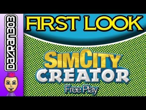 SIM CITY CREATOR Nintendo Wii Free Play Gameplay | FIRST LOOK SERIES
