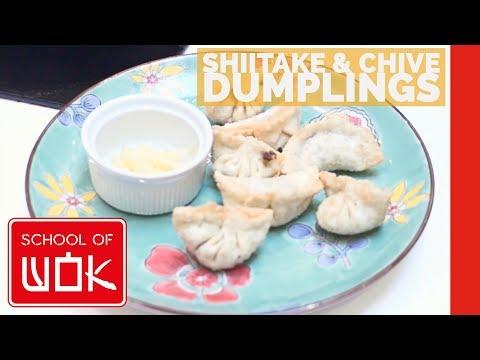 How to Make Crispy Shiitake and Chive Dumplings (Vegetarian Dumplings) - Wok Wednesdays - Episode 3