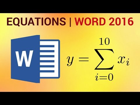 How to Insert Equations in Word 2016