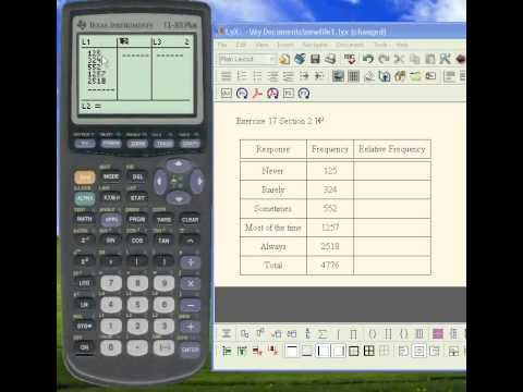 Calculating Relative Frequencies with a TI-83