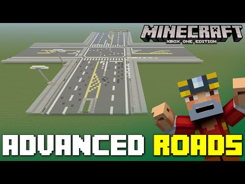 Minecraft Xbox One: Advanced Roads! (Intersections & More!)
