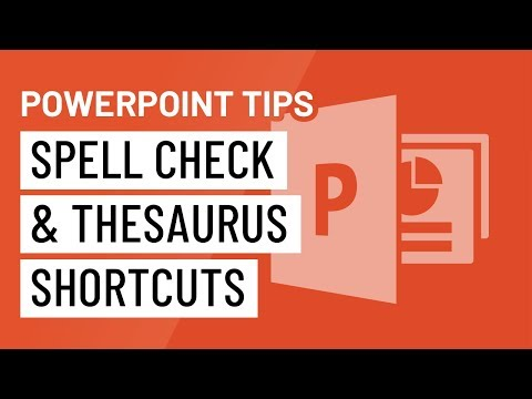 PowerPoint Quick Tip: Spell Check and Thesaurus Shortcuts