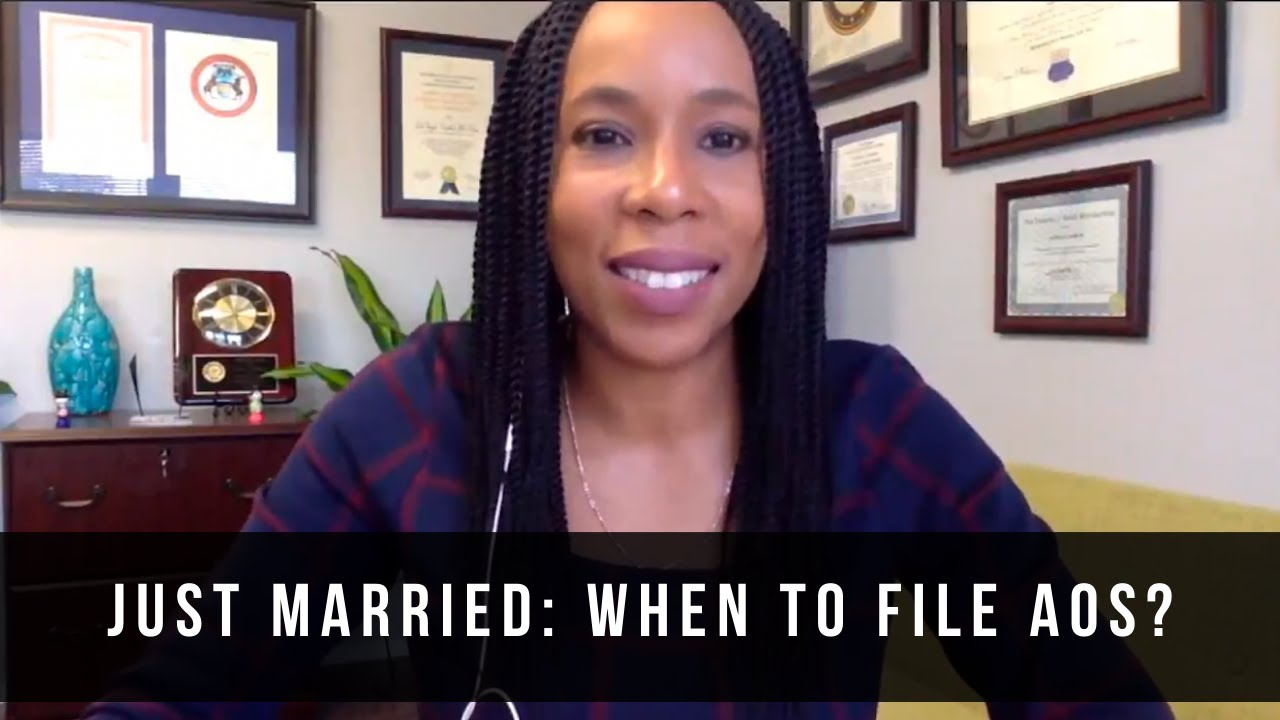 JUST MARRIED: WHEN TO FILE ADJUSTMENT OF STATUS APPLICATION? (2019) Immigration Lawyer