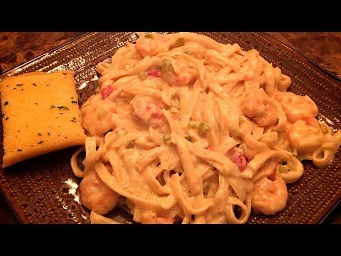 Shrimp Fettuccine by The Cajun Ninja