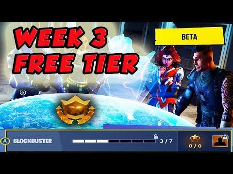 Fortnite Blockbuster Week 3 Challenge | Free Battle Pass Tier