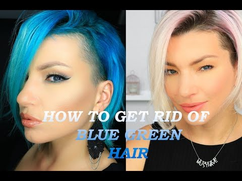 HOW TO GET RID OF BLUE GREEN HAIR - HACKS TESTED-VIT C, B4, BLOND ME -STRAWBERY BLONDE