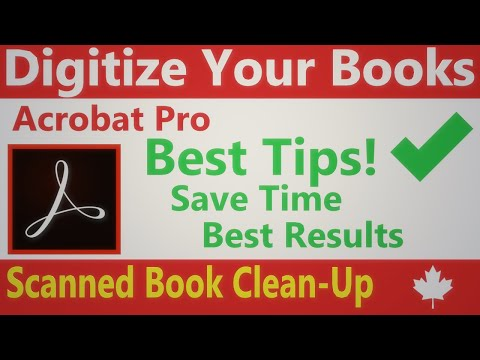 6 Process Book Scan Using Adobe Acrobat Pro  complete walk through