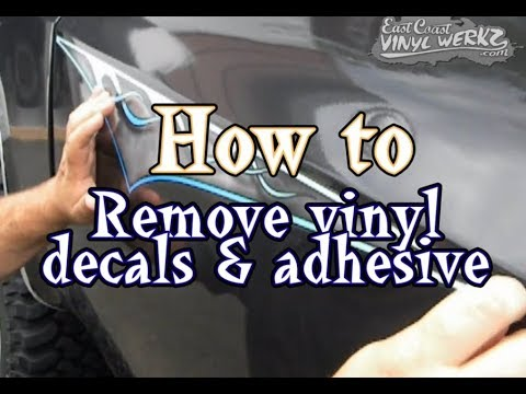 How To remove decal glue adhesive from your car or truck