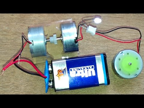 turn an electric motor into a generator