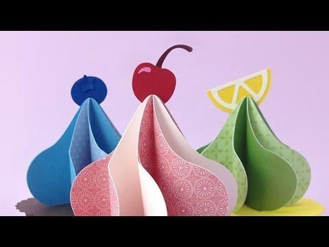 Cupcake Gift Box 3D SVG -  Fruit Assembly