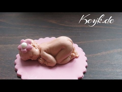 Fondant Baby für Cupcakes - Cupcake Toppers