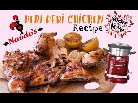 Nando's Peri Peri Chicken Recipe DIY make it at Home - KitchenAid ARTISAN cook processor Thermomix
