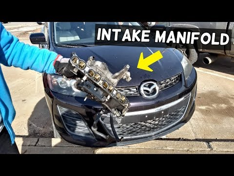 HOW TO REMOVE OR REPLACE INTAKE MANIFOLD ON MAZDA CX-7 CX7 MAZDASPEED 3 6