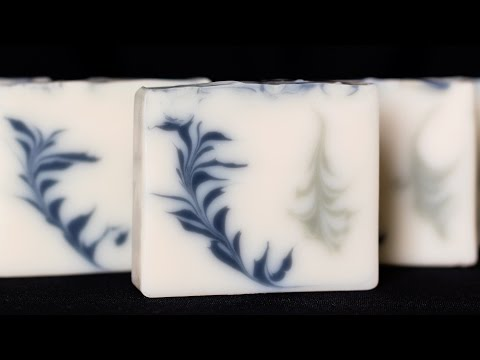 Secret & Reverse Feather Swirls in Cold Process Soap