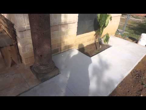 DIY sidewalk results concrete 3.6 yards with wire mesh and rebar