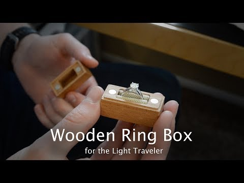 Tiny Wooden Engagement Ring Box - CNC Project #93