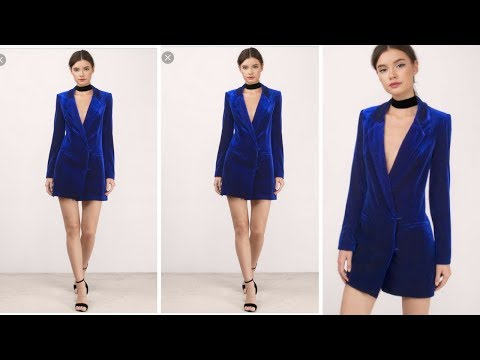HOW TO MAKE A BLAZER DRESS I HOLIDAY PARTY OUTFITS I EASY SEWING