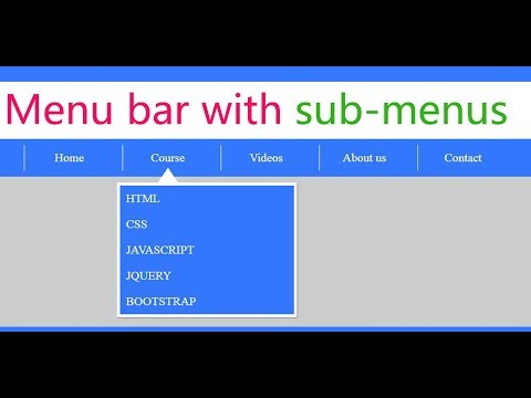 create a menu / navigation bar with sub menus using html and css | web zone