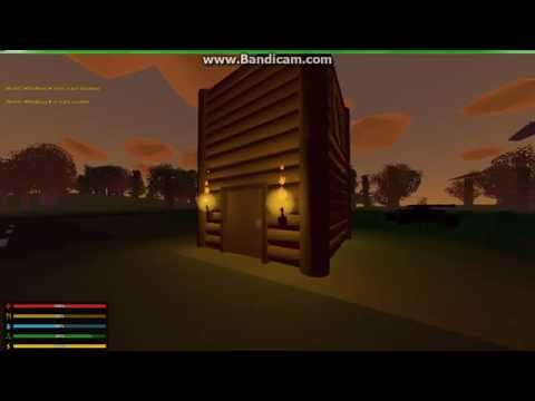 Unturned ►How to build a simple and easy house!!