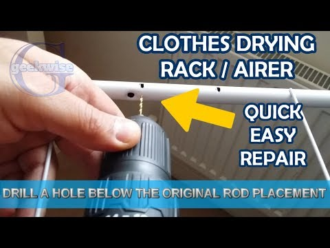 DIY EASY FIX CLOTHES DRYING RACK / AIRER RODS REPAIR