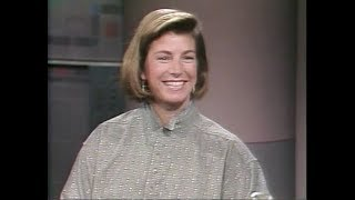 Kim Reichhelm, Extreme Skier, on Late Night, April 26, 1990