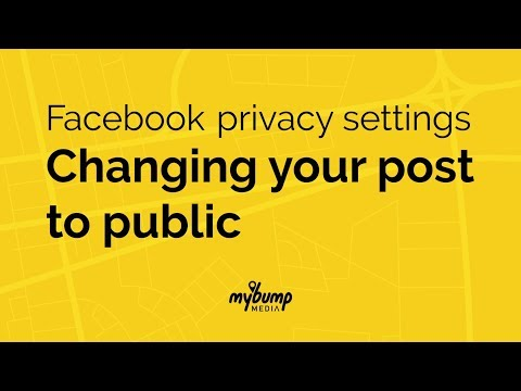 How to change the privacy settings of your Facebook Post