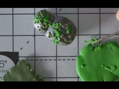 Rock with Moss Polymer Clay Tutorial