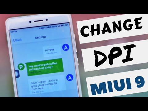 change dpi in miui | how to change display size like stock android in miui