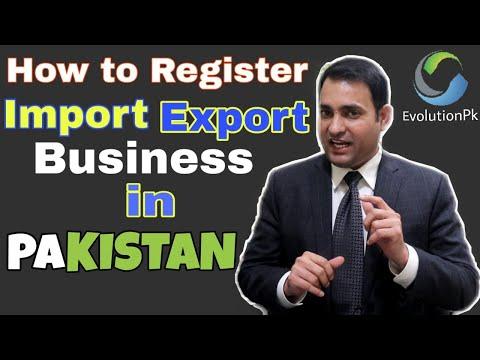 How to Register Import export Business in Pakistan